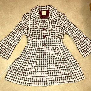 Jackets & Blazers - Black and White Dress Coat-Excellent Condition l!!